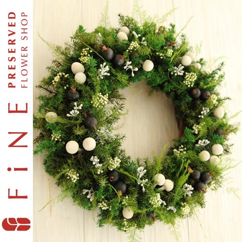 グリーンリース|枯れない観葉植物/インテリア/開店祝い/北欧インテリア/開業祝い【有料バッグ:リースM対応】