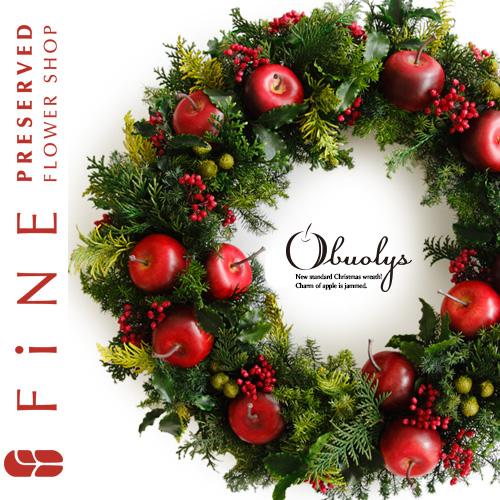 オーブオリース(X対象)|プリザーブドフラワー/リース/クリスマス/玄関リース/クリスマスプレゼント/【有料バッグ:リースL対応】
