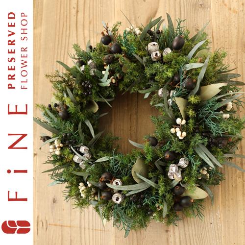 グリーンリース|クリスマスリース/クリスマス/リース/インテリア/北欧インテリア/開業祝い【有料バッグ:リースL対応】