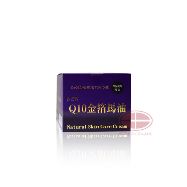 NEWQ10金箔馬油+GOLD ナチュラルスキンケアクリームNatural Skin Care Cream【期間限定 送料無料】※NEWパッケージになります