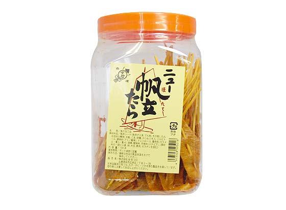 【ポット入り駄菓子のまとめ買い・珍味・イカ系の駄菓子】 全珍 ニュー帆立たら (84本入)