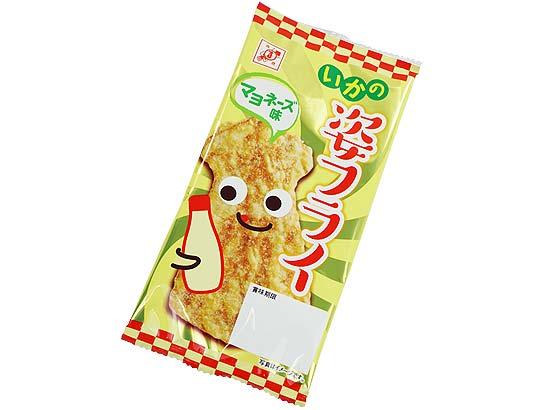【駄菓子のまとめ買い・珍味・イカ系の駄菓子】 全珍 イカの姿 フライ マヨ味 (30袋入)
