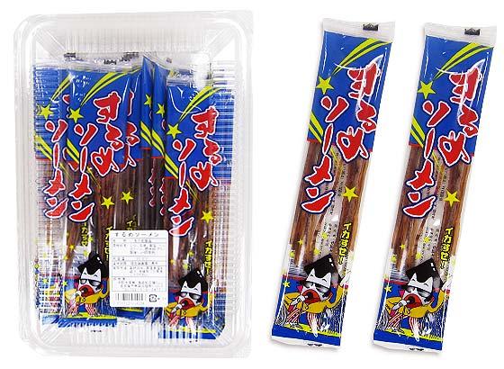 【駄菓子のまとめ買い・珍味・イカ系の駄菓子】 中水 するめそーめん (30個入)