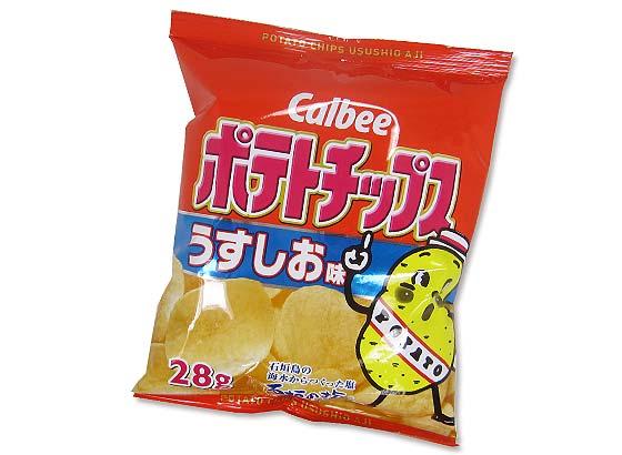 【お菓子のまとめ買い・スナック系のお菓子】 カルビー ポテトチップス うすしお味 (24個入)