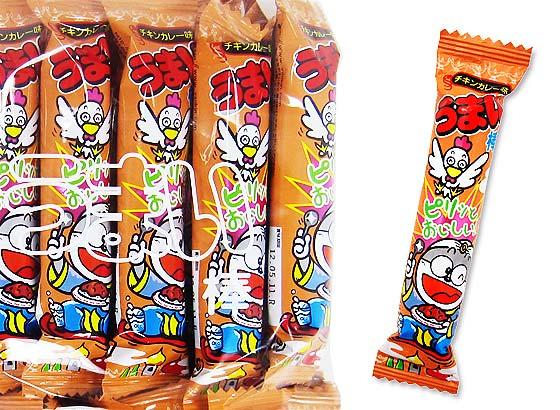 【駄菓子のまとめ買い・スナック系駄菓子】 やおきん うまい棒 チキンカレー味 (30個入)