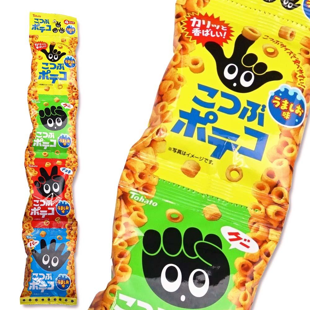 【お菓子まとめ買い・スナック系のお菓子】 東ハト 16g×4こつぶポテコ4P(12袋入)