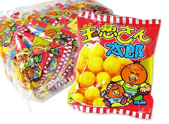 【駄菓子のまとめ買い・スナック系の駄菓子】 菓道 玉葱さん太郎  (30個入)