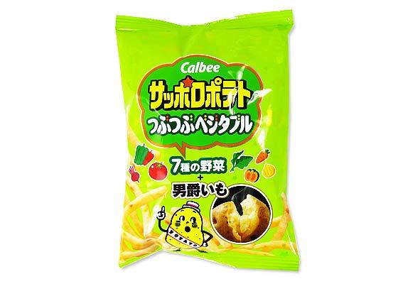 【お菓子まとめ買い・スナック系のお菓子】 カルビー サッポロポテト つぶつぶベジタブル (24個入)