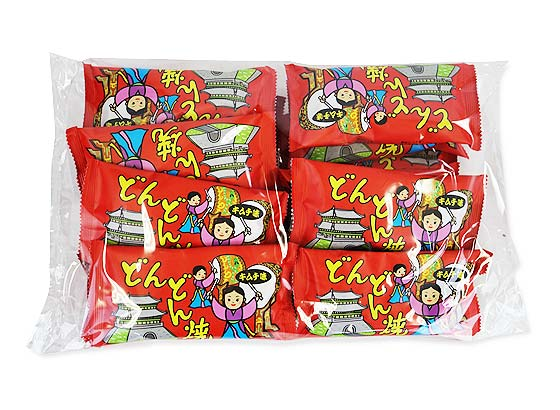駄菓子のまとめ買い・あられ・おかき系の駄菓子 菓道 どんどん焼き キムチ味(15個入)