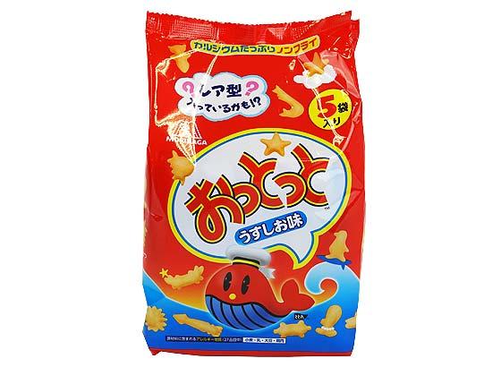 【駄菓子のまとめ買い・スナック系の駄菓子】 森永 5個入 おっとっと うすしお味 大袋 (10個入)