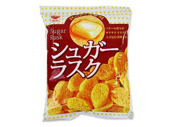 駄菓子のまとめ買い・スナック系の駄菓子 リスカ 35g シュガーラスク (24袋入)