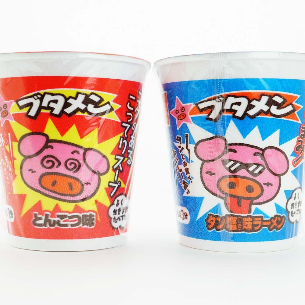 おやつカンパニー ブタメン とんこつ・たん塩 2種セット (30個入×2) ラーメン 駄菓子 まとめ買い お菓子 景品 食べ比べ
