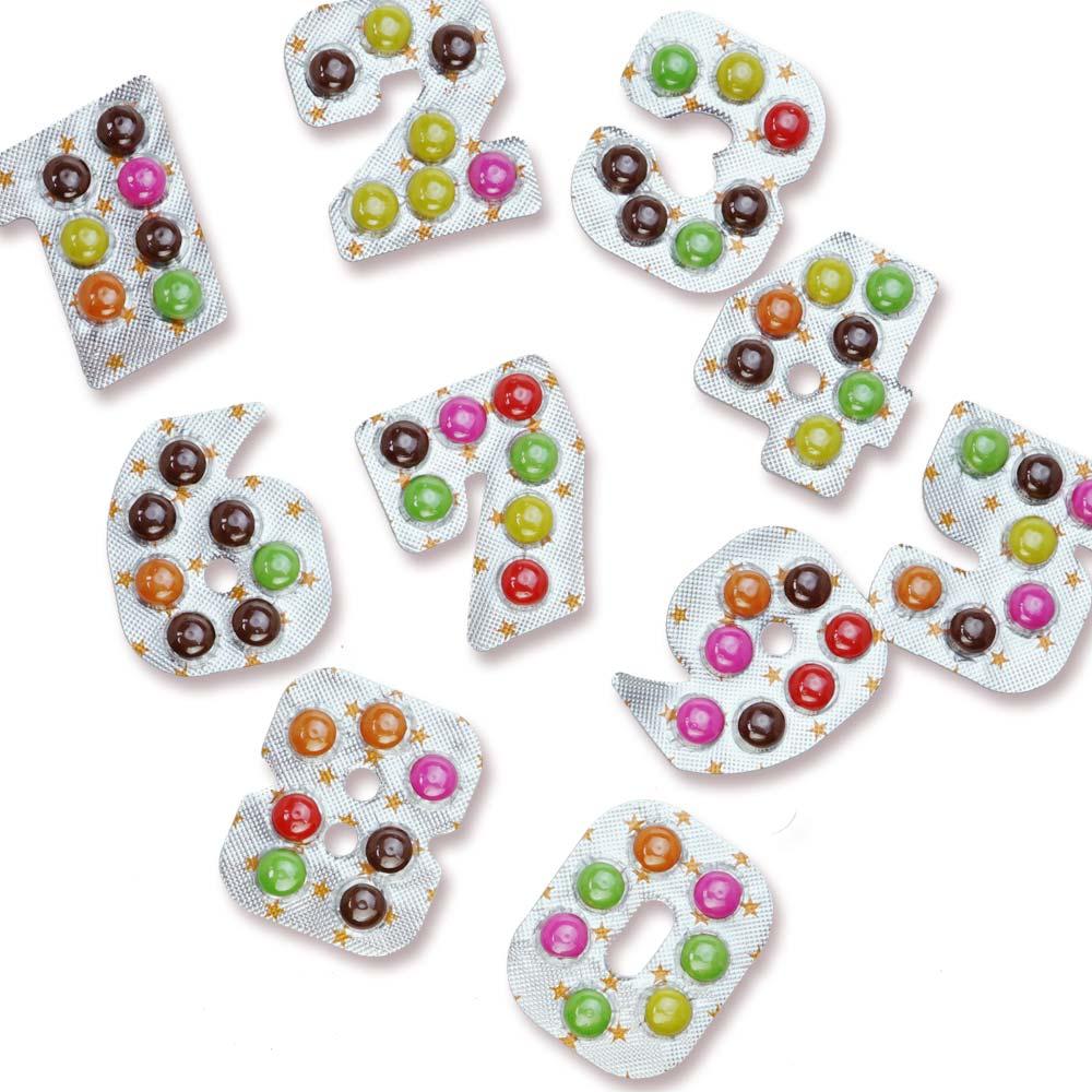 【駄菓子のまとめ買い・チョコ系の駄菓子】 チーリン マーブルチョコ 7粒 ウィットナンバーチョコ (60個入)