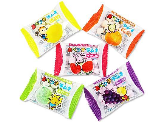 【駄菓子のまとめ買い・ラムネの駄菓子】 安倍 くだものラムネ (50個入)