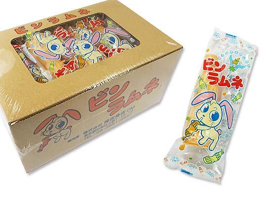 【駄菓子のまとめ買い・ラムネ系の駄菓子】 岡田商店 もなかのビンラムネ(20個入)