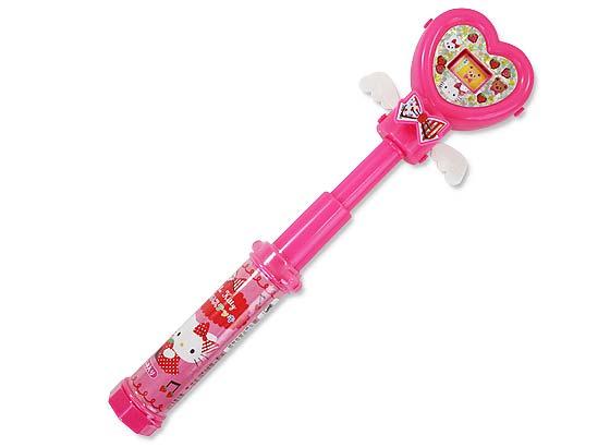 お菓子のまとめ買い・ガム系の駄菓子 玩具菓子 ウィード ハローキティ うらないステッキ(96個入)