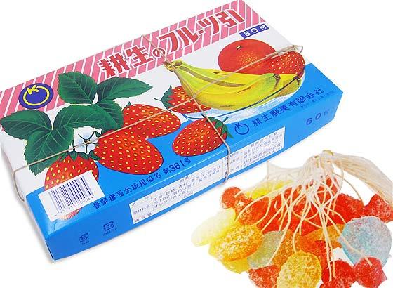 【駄菓子のまとめ買い・業務用・当たり付きの駄菓子】 耕生 糸引き飴 フルーツ引き キャンディ (60個入)