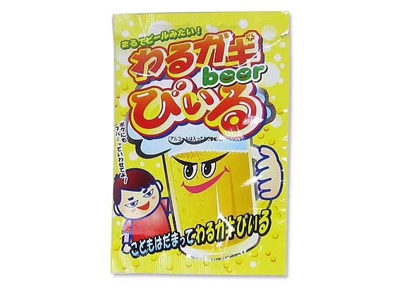 【駄菓子のまとめ買い・ゼリー・ドリンク系の駄菓子】 共親 わるガキびいる(30個入)