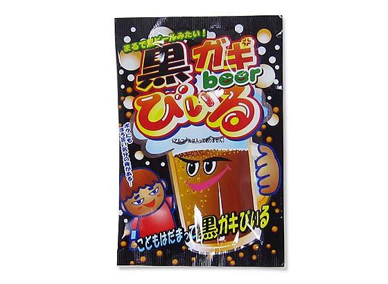 【駄菓子のまとめ買い・ゼリー・ドリンク系の駄菓子】 共親 黒ガキびいる(30個入)