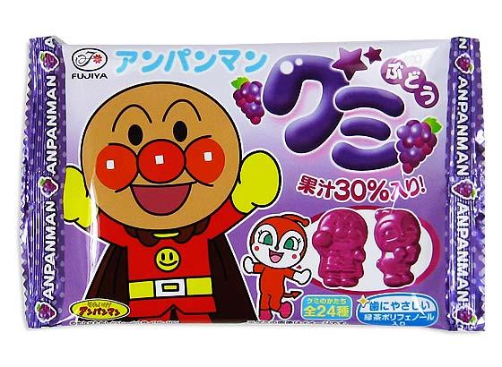 【 あめ系の駄菓子まとめ買い 】 人気のキャラクター アンパンマングミ ぶどう味(20入) 不二家