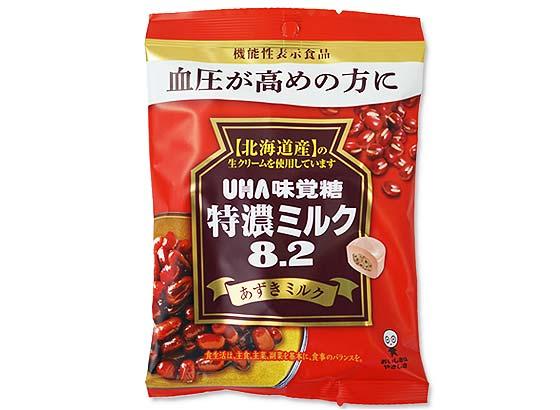 お菓子のまとめ買い・キャンディ系の駄菓子 UHA味覚糖 特濃ミルク8.2 あずきミルク (6個入)