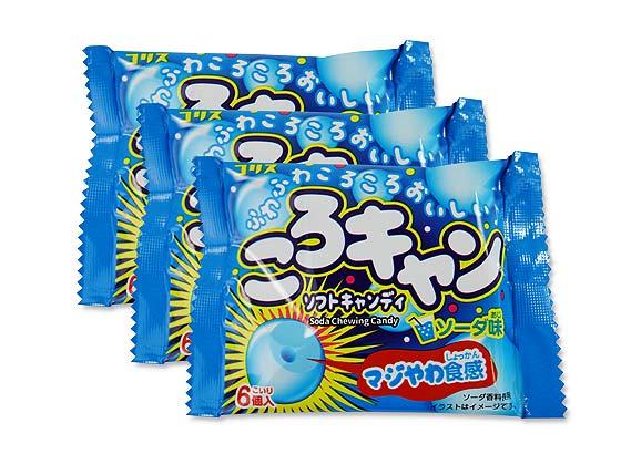 【駄菓子のまとめ買い・キャンディ系の駄菓子】 コリス ころキャン ソフトキャンディ  ソーダ味 (20個入)