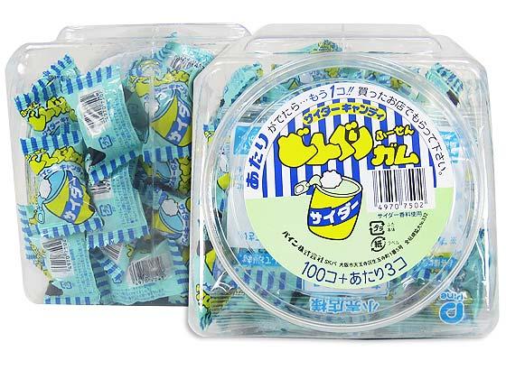 【駄菓子のまとめ買い・ガム系の駄菓子】 パイン どんぐりガム サイダー (100個プラス当たり3個)