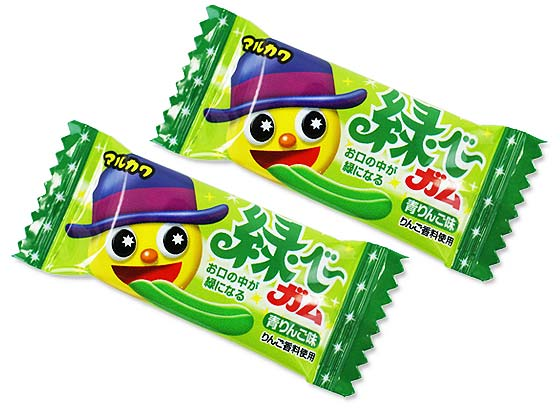 【駄菓子のまとめ買い・ガム系の駄菓子】 マルカワ 緑ベーガム (50個プラス当たり3個)