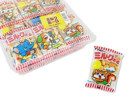 【駄菓子のまとめ買い・スナック系駄菓子】  岩本 イワモトのミルク ボーロ (30袋入)