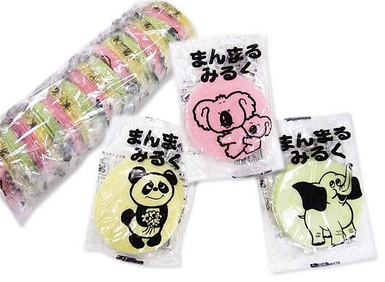 【駄菓子のまとめ買い・ビスケット・せんべい系の駄菓子】  松川  まんまるみるくせんべい(20袋入)