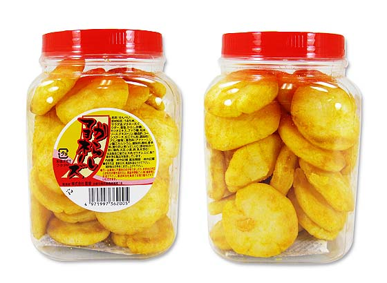 【駄菓子・業務用 ポット入りおかき】 雷屋 からしマヨネーズせんべい 78g