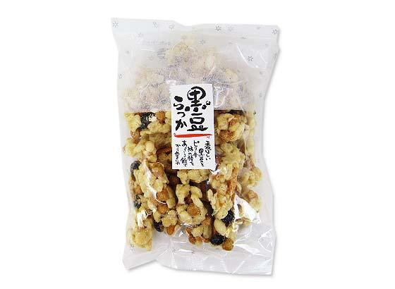 【お菓子のまとめ買い・おかき(あられ・おかき餅)】日新堂 黒豆らっか 180g (10袋)