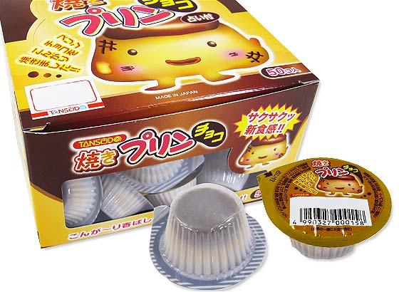 【駄菓子のまとめ買い・チョコ系の駄菓子】 占い付 焼きプリンチョコ (50個) 【丹生堂】