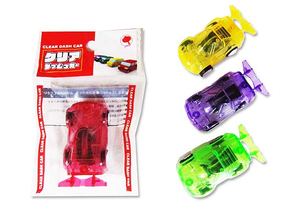 【景品玩具まとめ買い・スポーツ系のおもちゃ】クリアダッシュカー(25個入)