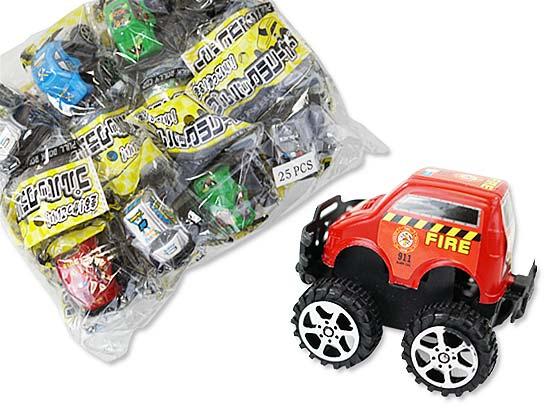 景品玩具まとめ買い・くるま・乗り物系玩具 プルバックラリーカーアソート (25コ入)