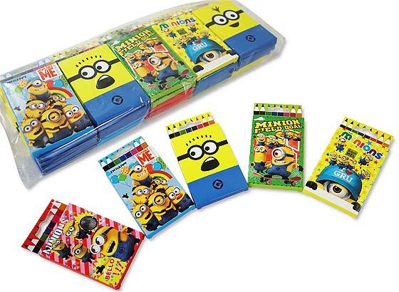 【景品玩具まとめ買い・ファンシー・文具系の玩具】 ミニオンズ 8色えんぴつ(25個入)