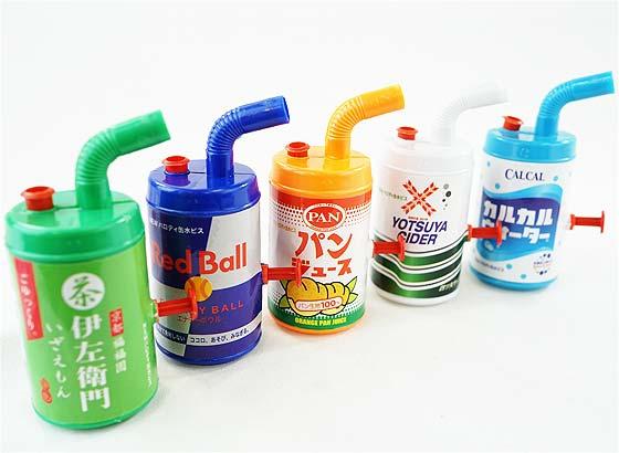 【おもちゃのまとめ買い・水ピストル系のおもちゃ】 パロディ缶カン水ピス (25個入)