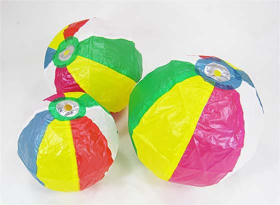 【エア玩具・風船】3P紙風船(バラ売り)