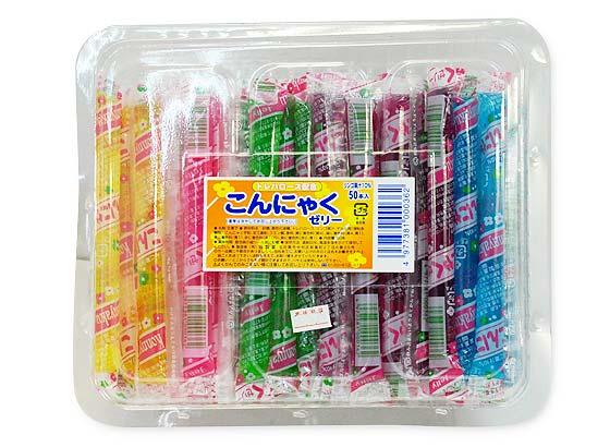 【駄菓子のまとめ買い・ゼリー・ドリンク系の駄菓子】 坂製菓 こんにゃくゼリー(50本入)