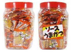 【お菓子のまとめ買い・その他(おつまみ・半生菓子)】 ソースうまかつ(100個入)【タクマ】