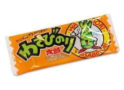 【駄菓子のまとめ買い・珍味・イカ系の駄菓子】 菓道 わさびのり太郎 (60個入り)