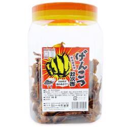 一十珍海堂 げんこつ紋次郎 ポット入 (80本入) 駄菓子 ポット入り まとめ買い 珍味・イカ系の駄菓子