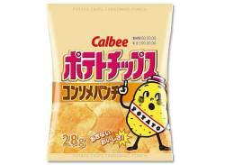 【お菓子まとめ買い・スナック菓子】28gポテトチップス ポテトチップスコンソメパンチ 24袋 【カルビー】
