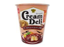 お菓子のまとめ買い・スナック系の駄菓子 おやつカンパニー クリームデリ チーズインハンバーグ (12個入)