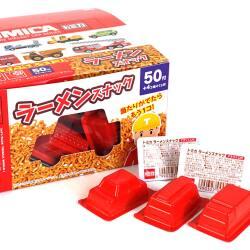 丹生堂 当たり付 トミカ ラーメン スナック  ( 50個 + おまけ4個 )  駄菓子 まとめ買い スナック菓子 くじ 箱買い お菓子
