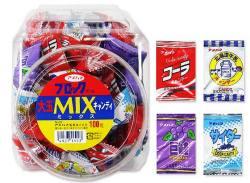 【駄菓子のまとめ買い・飴・キャンディ系の駄菓子】 アメハマ 大玉ミックス キャンディ(100個入)