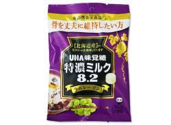 お菓子のまとめ買い・キャンディ系の駄菓子 UHA味覚糖 特濃ミルク8.2 ラムレーズン (6個入)