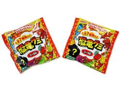 【駄菓子まとめ買い・キャンディ・グミ系の駄菓子】 明治 恐竜グミ コーラ味 (20個入)