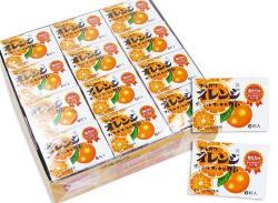 オレンジマーブルフーセンガム
