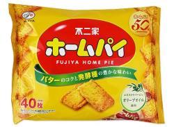【お菓子のまとめ買い・ビスケット系のお菓子】不二家 ホームパイ 40枚入り 大袋(12袋入)